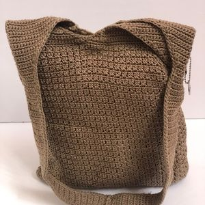 The Sak Handbag Crochet Shoulderbag Beige Purse S